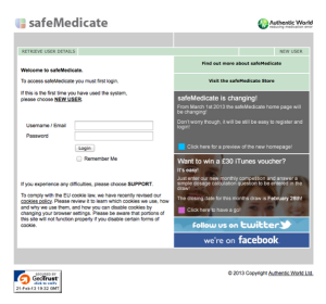 safeMedicate Portal